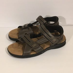 Dockers Men's Sz 12 Solano Sandals Brown Leather